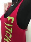 ABERCROMBIE  FITCH SUMMER TANK TOP W GRAPHICS HOT PINK SIZE SMALL EUC