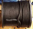 ANCHOR ROPE DOCK LINE 1 4 X 100 BRAIDED 100 NYLON BLACK MADE IN USA