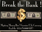 BREAK THE BANK BOX SILVER GOLD FEDERAL RESERVE NOTES BILLS 1 2 5 10 20 50 100