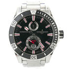 Mens Ulysse Nardin Maxi Marine Diver Black Dial Rubber Watch 263-10-7M/92
