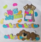 Easter Bunny Jelly Beans Title Border Handmade Paper Piecing Scrapbook Premade