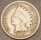 1909 Indian Head Penny Nice Coin For Your Collection Free Shipping (B)