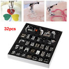 Presser Foot Feet Sewing Machine Part Tool Kit For Brother Singer Domestic 32Pcs