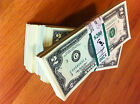 $2 15 sequentially numbered -CRISP BILLS-TWO DOLLAR NOTES CURRENCY-USA 2 DOLLAR
