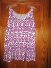 WOMENS PLUS SIZE GRAPE AND WHITE TANK TOP SIZE 26 28