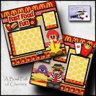 MCFUN MCDONALDS fast food 2 premade scrapbooking printed pages paper CHERRY