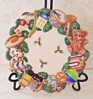 Fitz & Floyd Toyland Santa Candle Plate - Christmas -Handcrafted - 9
