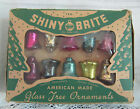 Vtg Shiny Brite Glass Bell Christmas Ornaments 125 Feather Tree Size BOX
