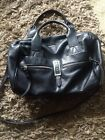 B Makowsky Black Leather Handbag Dust bag