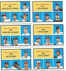 2016 Topps Throwback Thursday Set of 1961 Leaders 6 cards