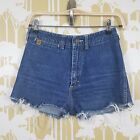 VINTAGE 90S JESSE JEANS DISTRESSED HIGH WAISTED DENIM CUT OFF SHORTS SIZE 7 8