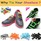 Elastic No Tie Shoelaces Waterproof Silicone Rubber Laces for Sneakers Use 1Pair