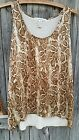 French Laundry Womens Tank Top size M animal print brown  cream