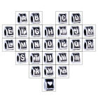 2pcs Letter A to Z Initial Big Hole Spacer Charms European Beads for Bracelets