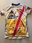 Baleno Bicycle Cycling Jersey Shirt With Flash Womens XL Made USA Vintage Pink
