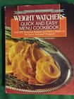 Silver Anniversary Weight Watchers Quick And Easy Menu Cookbook