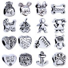2pcs Dog Anchor Cat Spacer Fit European Beads Fit 925 Bracelets Charms Jewelry
