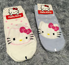 2x Hello Kitty Socks Cute Sneakers Girl Gift Size 22 26 cm Pink Soft Furry Korea