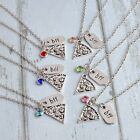 BFF Pizza Necklace Silver Tone Best Friend Pendant Friendship Rhinestone Jewelry