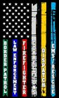Thin Blue Line Red Line Fire Police Military Dispatch Corrections Flag Decal