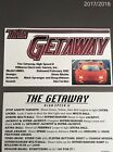 Williams 1992 High Speed II The Getaway Pinball Score Card Set