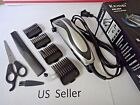 Electric Professional Hair Cut Clippers Cutter Tool Salon Barber Set US Seller