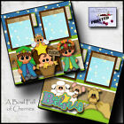 BELIEVE NATIVITY CHRISTMAS 2 premade scrapbook pages paper printed CHERRY