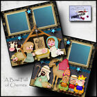 ADORE HIM nativity 2 premade scrapbook pages paper PRINTED CHRISTMAS BY CHERRY