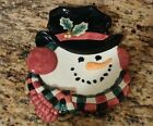 Fitz & Floyd Essentials Christmas Snowman Dish Decor