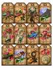 SET OF 12 2X325 WOMENS VICTORIAN SHOES SCRAPBOOK CARD CRAFT HANG GIFT TAGS