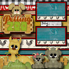 PETTING ZOO animals 2 premade scrapbook pages 3D paper piecing layout CHERRY