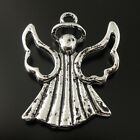30pcs Antiqued Silver Vintage Alloy Cute Angel Wing Pendant Charms Jewelry