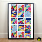 Large MAPEI Cycling Jersey Maglia Ciclismo Graphic Design Details Print Poster