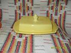 VINTAGE HOMER LAUGHLIN  RIVIERA  YELLOW  1/2 POUND BUTTER DISH - FIESTAWARE -t23