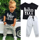 USA 2PCS Causal Kids Baby Boy Clothes T Shirt+Trousers Sports Pants Outfit 2 6Y