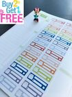 PP048 Little Bill Due Reminder Life Planner Stickers for Erin Condren 28pcs