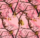 Realtree Pink Branches Flannel Fabric by the Yard
