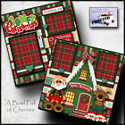 CHRISTMAS PAJAMAS PJs PRINTED 2 premade scrapbook pages paper printed BY CHERRY