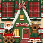 CHRISTMAS PAJAMAS PJs 2 premade scrapbooking pages 3D paper piecing CHERRY