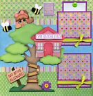 TREETOP FUN 2 PREMADE SCRAPBOOK PAGES GIRL Paper Piecing 4 album BY CHERRY