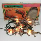 Vintage 1988 Bunch-A-Lizards Light Set String Primal Lite Gila Monster Desert