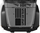 Support Our Troops USA flag Hood vinyl sticker decal Fits Jeep wrangler c77