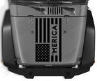 MERICA USA flag Hood vinyl sticker decal Fits Jeep American Military CC77