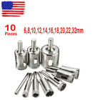 10 Diamond Holesaw Drill Bit Hole Saw Set For Cutter Glass Ceramic Marble 6 32mm