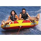 AIRHEAD Inflatable Double Rider Turbo Blast Towable Lake Boat Water Tube NEW