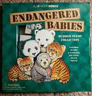 Endangered Babies Rubber Stamp Collection All Night Media 8 stamps no ink pad