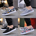 Mens driving shoes canvas shoes Breathable slip on shoes fashion sneakers