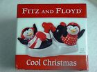 FITZ AND FLOYD FROSTY FRIENDS SALT AND PEPPER SHAKERS NEW IN BOX