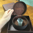 EBEL CLASSIC WAVE 1215274 MENS Black DIAL STAINLESS STEEL WATCH $2700.00 RETAIL