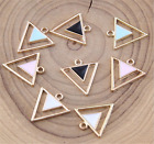PJ1092 8pc Charms triangle Pendant Beads Necklace Jewellery Making Enamel